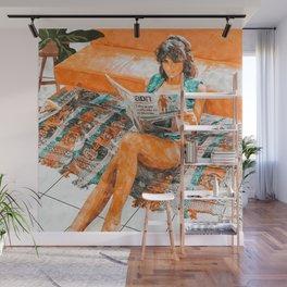 The Gossip Column #illustration Wall Mural