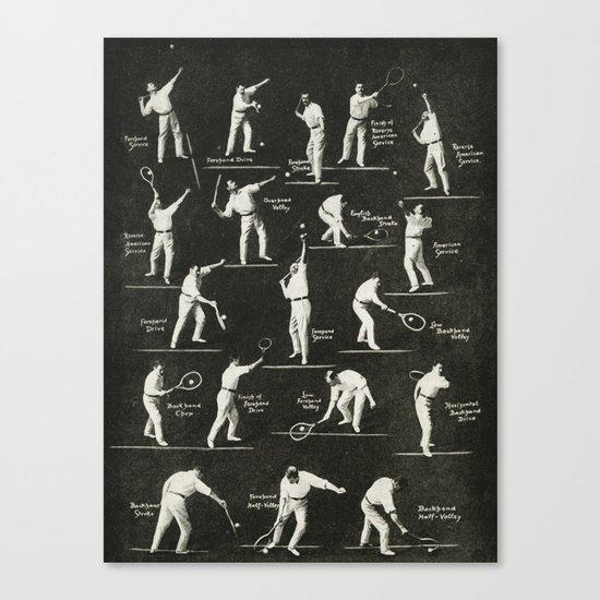 gentlemen prefer tennis Canvas Print