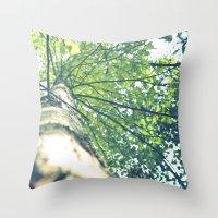 birch Throw Pillows featuring Birch by nadja-elli
