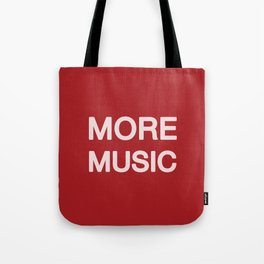More music -  Red Tote Bag