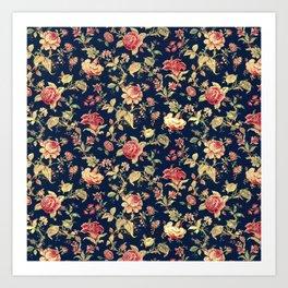 Shabby Floral Print Art Print