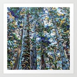 Hemlock Tree Moss Art Print