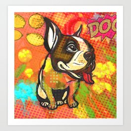 Dog pop art Art Print