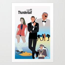 Ian Fleming's Thunderball Art Print