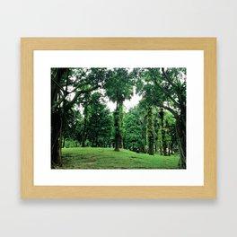 green green everywhere Framed Art Print