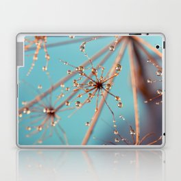 Queen Anne's Lace in Blue Laptop & iPad Skin