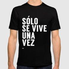 YOLO in Spanish Mens Fitted Tee Black MEDIUM