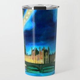 Houses of Parliament and Big Ben at Night Travel Mug