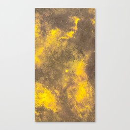 Yellow Painted on Concrete Canvas Print