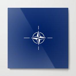 flag of nato Metal Print