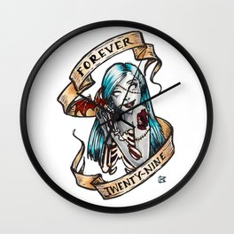 Forever 29 Zombie Girl Wall Clock