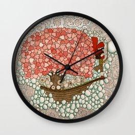 Bubble Waves Wall Clock
