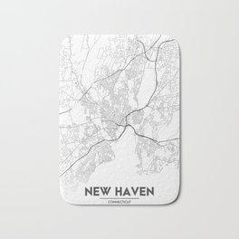 Minimal City Maps - Map Of New Haven, Connecticut, United States Bath Mat