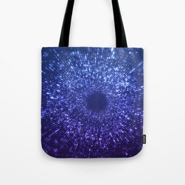 Sci Fi Abstract Outer Space Universe  Mystic Blue Tote Bag