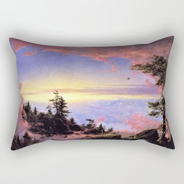 New England - Above the Clouds at Sunrise by Frederic Irwin Church Rectangular Pillow