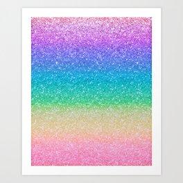 Rainbow Glitter Kunstdrucke