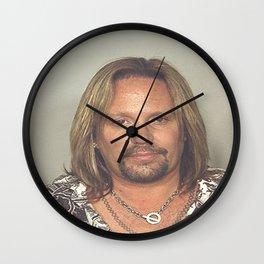 Vince Neil Mugshot Wall Clock
