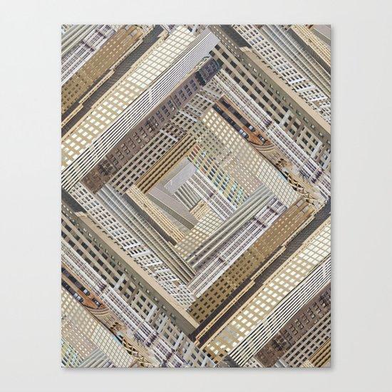 Skyscraper Quilt Canvas Print