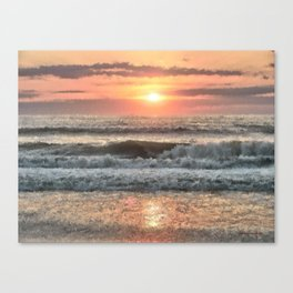 Painted Waves Canvas Print