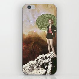 Lady in Space I iPhone Skin