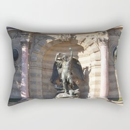Saint Michael the archangel at the Fountain of St Michel, Paris Rectangular Pillow
