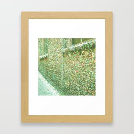 THE GUM WALL Framed Art Print