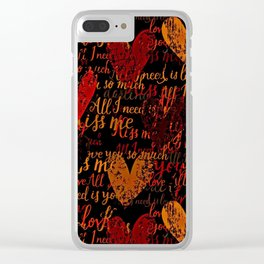 Kiss Me, Miss Me Red Clear iPhone Case