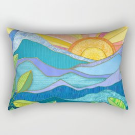 Sunset Through The Leaves Rectangular Pillow