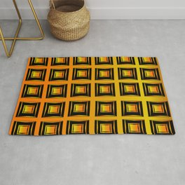 Rich coppery modern art deco pattern Rug