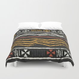 African Tribal Pattern No. 84 Duvet Cover