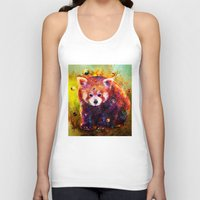 red panda Tank Tops featuring red panda by ururuty