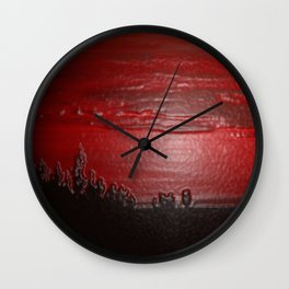 Lacquer Sunset Wall Clock