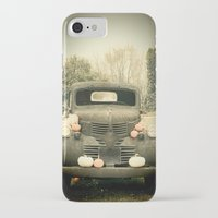 truck iPhone & iPod Cases featuring Pumpkin Truck by Toothpick Images