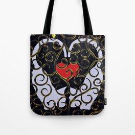 """KARAKUSA CAT'S """"LOVE"""" Tote Bag"""