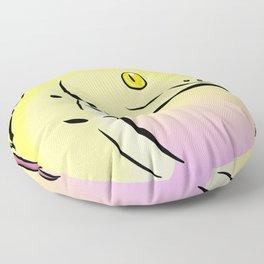 """Yellow Boa Snake """"Snek"""" Floor Pillow"""