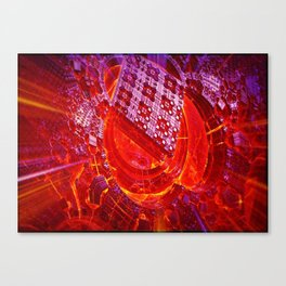 Pixel forge Canvas Print