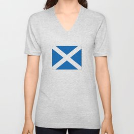 flag of scotland – scotland,scot,scottish,Glasgow,Edinburgh,Aberdeen,dundee,uk,cletic,celts,Gaelic Unisex V-Neck