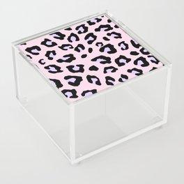 Leopard Print - Lavender Blush Acrylic Box
