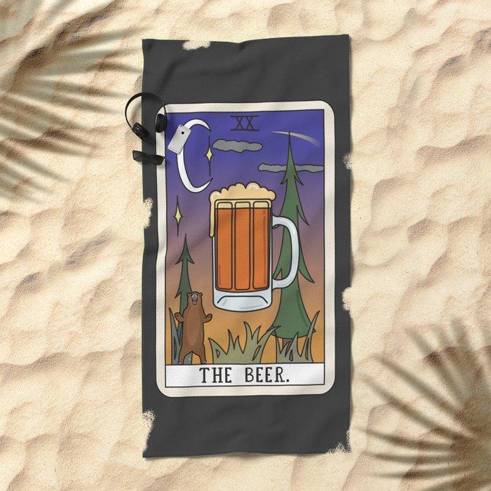 Beer Reading Beach Towel