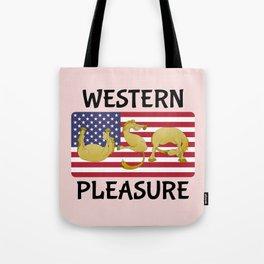 Western Pleasure Horses Tote Bag