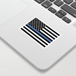 Blue Thin Flag Police Law Enforcement Flag Sticker
