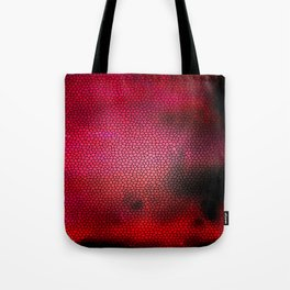 Red Lava Pebbles Tote Bag