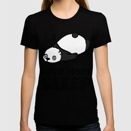 Sleepy Panda Need More Sleep Bear Wildlife Wilderness Lazy Forest Nature Gift T-shirt