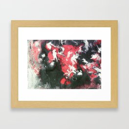 Marbled Ink - Pink Black & White Framed Art Print