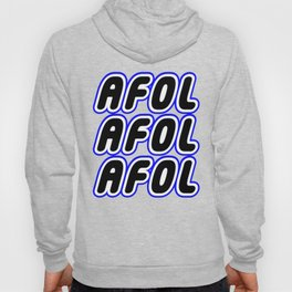 AFOL AFOL AFOL in Brick Font Logo Design [Alternate Colors] by Chillee Wilson Hoody