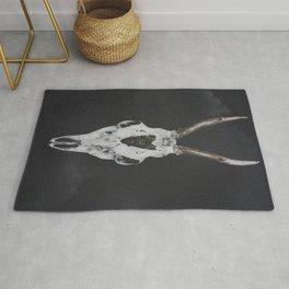 Roe Deer Skull with Death Hawk Moth Rug