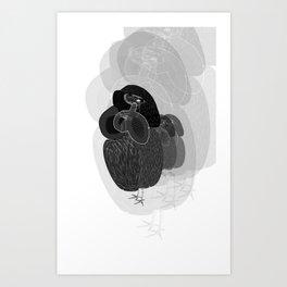 Unfortunate Birdies. Art Print