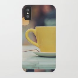 The yellow cup iPhone Case