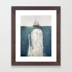 The Whale - vintage  Framed Art Print