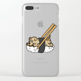 Shar Pei Sushi Clear iPhone Case